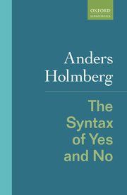 Cover for   The Syntax of Yes and No