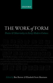 Cover for   The Work of Form