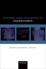 Cover for   Oxford Case Histories: Anaesthesia
