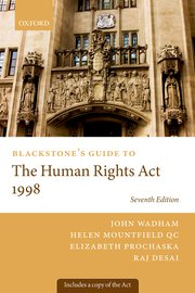 Cover for   Blackstones Guide to the Human Rights Act 1998