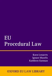 Cover for   EU Procedural Law