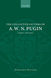 Cover for   The Collected Letters of A. W. N. Pugin