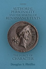 Cover for   Authorial Personality and the Making of Renaissance Texts