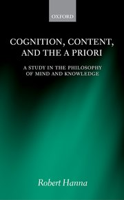 Cover for   Cognition, Content, and the A Priori
