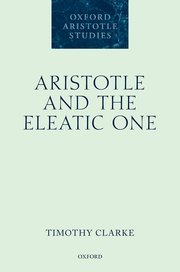 Cover for   Aristotle and the Eleatic One