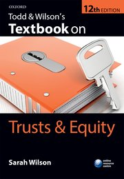 Cover for   Todd & Wilsons Textbook on Trusts & Equity