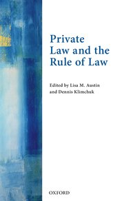 Cover for   Private Law and the Rule of Law