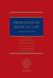 Cover for   Principles of Medical Law