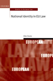 Cover for   National Identity in EU Law