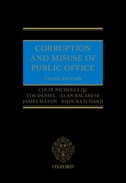 Cover for   Corruption and Misuse of Public Office 3e