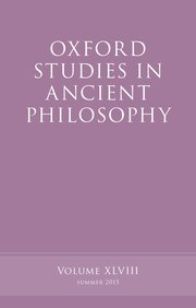 Cover for   Oxford Studies in Ancient Philosophy, Volume 48