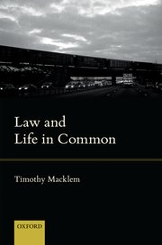 Cover for   Law and Life in Common
