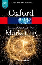 Cover for   A Dictionary of Marketing