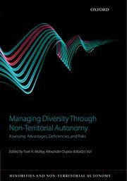 Cover for   Managing Diversity through Non-Territorial Autonomy