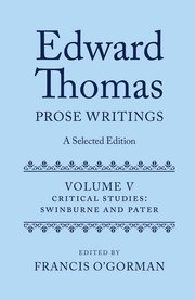 Cover for   Edward Thomas: Prose Writings: A Selected Edition
