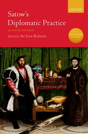 Cover for   Satows Diplomatic Practice