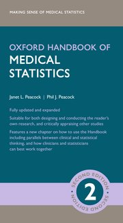 Cover for   Oxford Handbook of Medical Statistics