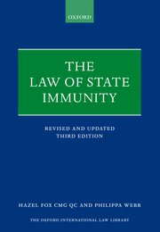 Cover for   The Law of State Immunity
