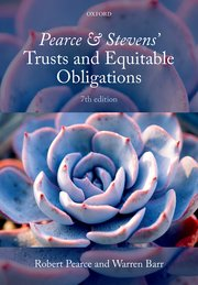 Cover for   Pearce & Stevens Trusts and Equitable Obligations