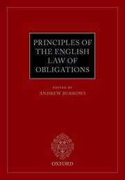 Cover for   Principles of the English Law of Obligations