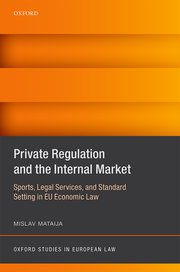 Cover for   Private Regulation and the Internal Market