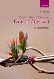 Cover for   Cheshire, Fifoot, and Furmstons Law of Contract