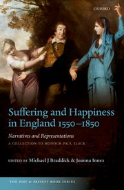 Cover for   Suffering and Happiness in England 1550-1850: Narratives and Representations