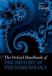 Cover for   The Oxford Handbook of the History of Phenomenology