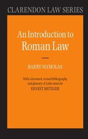 Cover for   An Introduction to Roman Law