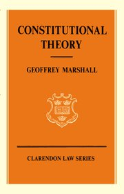 Cover for   Constitutional Theory