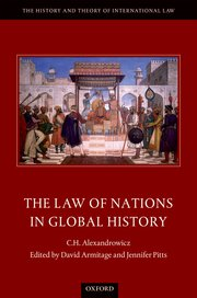 Cover for   The Law of Nations in Global History