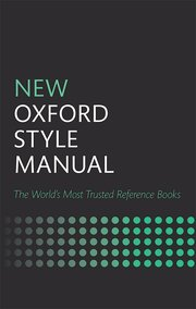 Cover for   New Oxford Style Manual
