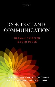 Cover for   Context and Communication