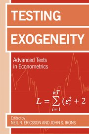 Cover for   Testing Exogeneity