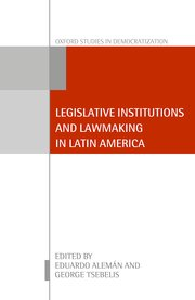 Cover for   Legislative Institutions and Lawmaking in Latin America