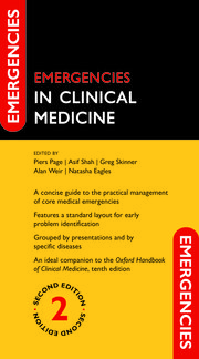 Cover for   Emergencies in Clinical Medicine