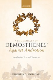Cover for   A Commentary on Demosthenes Against Androtion