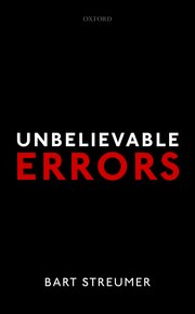 Cover for   Unbelievable Errors