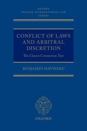 Cover for   Conflict of Laws and Arbitral Discretion