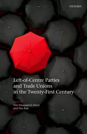 Cover for   Left-of-Centre Parties and Trade Unions in the Twenty-First Century