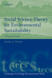 Cover for   Social Science Theory for Environmental Sustainability