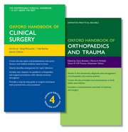 Cover for   Oxford Handbook of Clinical Surgery and Oxford Handbook of Orthopaedics and Trauma