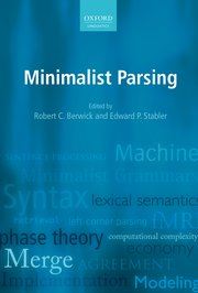 Cover for   Minimalist Parsing