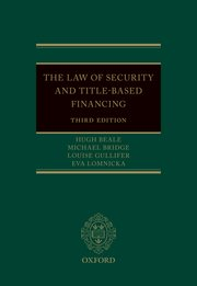 Cover for   The Law of Security and Title-Based Financing 3e