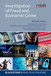 Cover for   Investigation of Fraud and Economic Crime