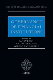 Cover for   Governance of Financial Institutions
