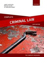 Cover for   Complete Criminal Law