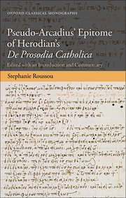 Cover for   Pseudo-Arcadius Epitome of Herodians De Prosodia Catholica
