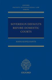 Cover for   Sovereign Defaults Before Domestic Courts
