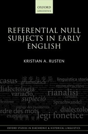 Cover for   Referential Null Subjects in Early English